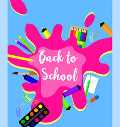 Colorful back to school background flat style vector