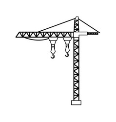 crane tower isolated icon vector image