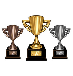 cups set vector image