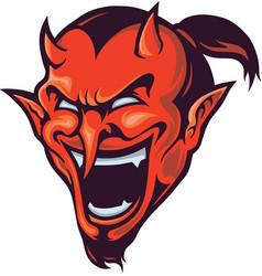 devil head mascot vector image