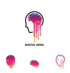 Digital mind symbol vector