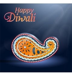 Diwali Indian festival greeting card vector image