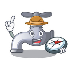 Explorer water tap isolated on character vector