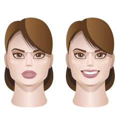 Female faces vector