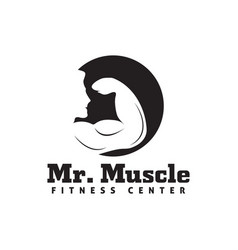 fitness logo design template isolated vector image