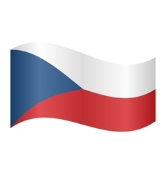 Flag of Czech Republic waving vector image