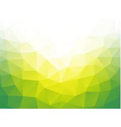geometric green bio background vector image