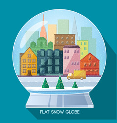 Glass christmas globe vector