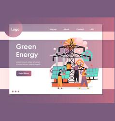 green energy website landing page design vector image