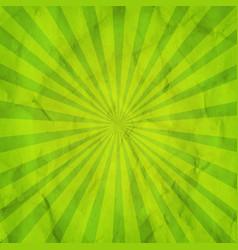 green sunburst retro background vector image