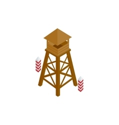 Guard tower icon isometric 3d style vector