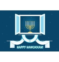 Happy Hanukkah Postcard Design vector image