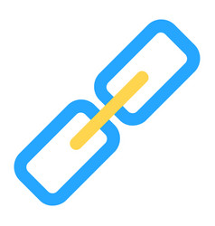 Hyperlink icon in flat style for any projects vector