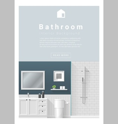 Interior design Modern bathroom banner 2 vector image