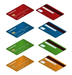 Isometric Credit cards of vector image
