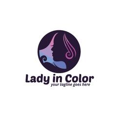 Lady in color logo vector