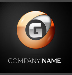 letter g logo symbol in the colorful circle vector image vector image