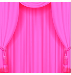 Light pink curtain with tassels vector