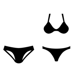 man and woman swim wear icon symbol short briefs vector image