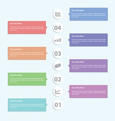 Minimal Infographic Template Design vector image