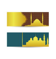 Modern flat elegant islamic mosque building vector