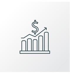 money growth icon line symbol premium quality vector image
