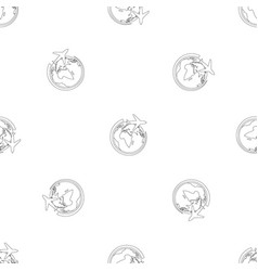 plane on earth pattern seamless vector image