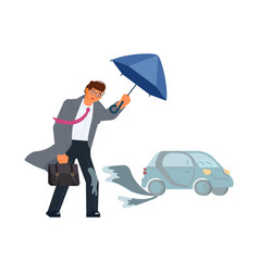 rainy and windy day weather vector image