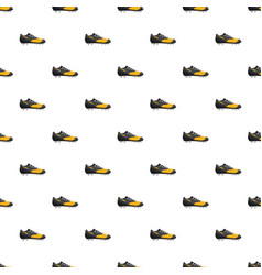 Red and yellow football or soccer shoe pattern vector