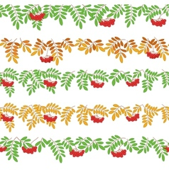 Rowanberry seamless vector image