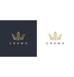 royal crown logo icon vector image