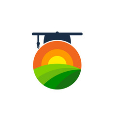 School farm logo icon design vector