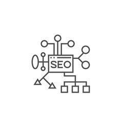 Seo planing line icon vector
