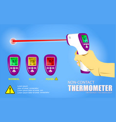 set non contact thermometer or infrared vector image