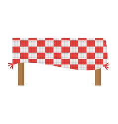 Table blanket picnic eating vector