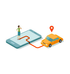taxi service for mobile internet app flat vector image