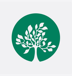 tree icon simple and elegant vector image
