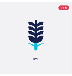 two color rye icon from autumn concept isolated vector image