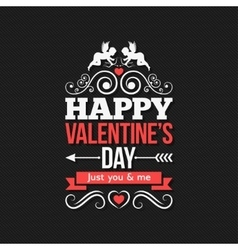 Valentines Day Border Vintage Design Background vector