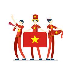 Vietnamese with vietnam flag symbol vector