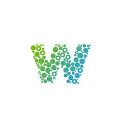 W particle letter logo icon design vector