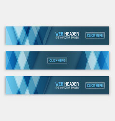 web header set of horizontal abstract banners vector image vector image