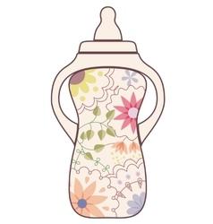 Baby feeding bottle vintage vector image vector image