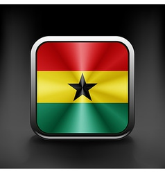 Ghana icon flag national travel icon country vector image vector image