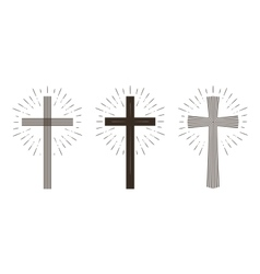 Religion cross icon or symbol vector image