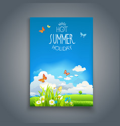 summer happy template vector image vector image