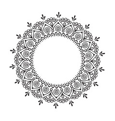decorative indian round lace ornate mandala vector image