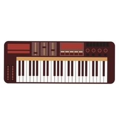 electronic piano keyboard icon vector image