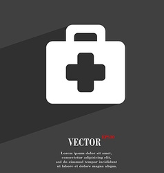first aid kit icon symbol Flat modern web design vector image