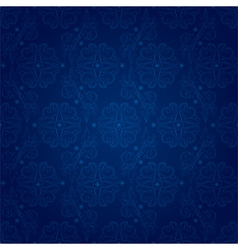 Floral seamless pattern on blue background vector image vector image